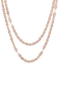 GLEAMING LAYER Halskette rosé vergoldet