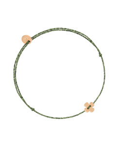 GLITTERY CLOVER|Armband Rosé