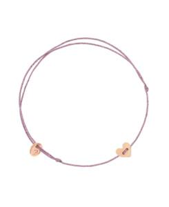 GLITTERY HEART|Armband Rosé