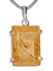 Goldtopas Anhänger 925 Silber 1001 Diamonds gelb