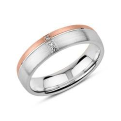 Gravierbarer 925er Silberring für Damen, rosé Zirkonia