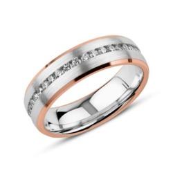 Gravierbarer Ring aus 925er Silber, rosé mit Zirkonia