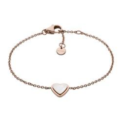 Gravur Herz Armband Katrine aus Edelstahl, rosé