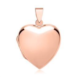 Großes Herzmedaillon vergoldet rosé poliert