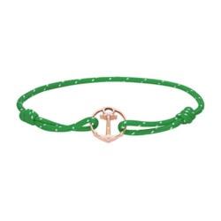 Grünes Nylonarmband Re/Brace mit Anker, rosé