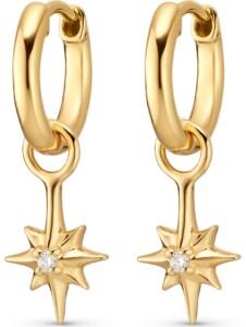 Guido Maria Kretschmer Damen-Creolen Guido Maria Kretschmer 925er Silber 2 Diamant Guido Maria Kretschmer gold