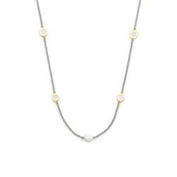 Halskette Alitia für Damen aus Edelstahl mit Perlmutt
