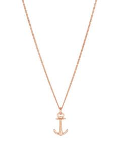 Halskette Anchor Spirit aus rosévergoldetem 925 Sterling Silber