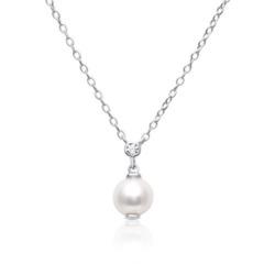 Halskette aus Sterlingsilber mit Perlenanhänger