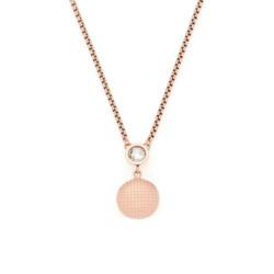 Halskette Delicato für Damen aus Edelstahl, rosé