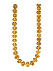 Halskette Diemer Farbstein Gelb