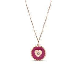 Halskette für Damen aus rosévergoldetem Edelstahl