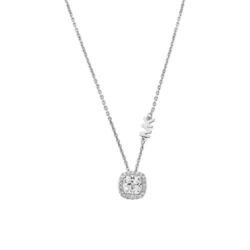 Halskette für Damen aus Sterlingsilber mit Zirkonia