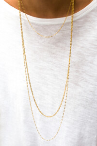 Halskette gelb vergoldet