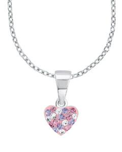 Halskette Herz aus 925 Sterling Silber mit Kristallen