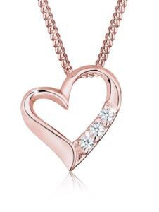 Halskette Herz Ewigkeit Diamant (0.045 Ct.) 925 Silber DIAMORE Rosegold