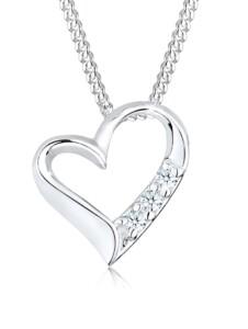 Halskette Herz Ewigkeit Diamant (0.045 Ct.) 925 Silber DIAMORE Silber