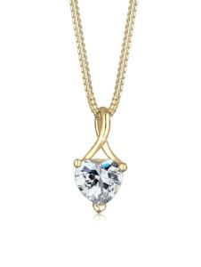 Halskette Herz Infinity Zirkonia 585 Gelbgold Elli Premium Gold