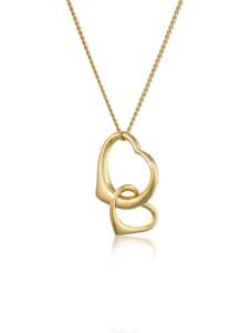 Halskette Herz Verbundenheit 585 Gelbgold Elli Premium Gold