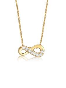 Halskette Infinity Unendlich Liebe Topas 585 Gelbgold Elli Premium Gold
