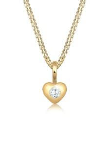 Halskette Kinder Herz Geburt Taufe Zirkonia 585 Gelbgold Elli Premium Gold
