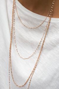 Halskette rosè vergoldet