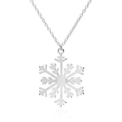 Halskette Schneeflocke für Damen aus Sterlingsilber