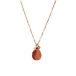 Halskette Tropfen für Damen aus Edelstahl, rosé