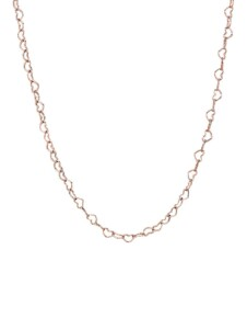 Halskette -Verbundene Herzen- Pandora Rosé