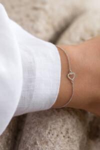 HEART Armband Weißgold