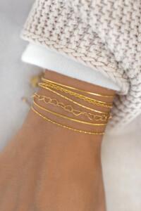 HEART CHAIN Armband gelb vergoldet