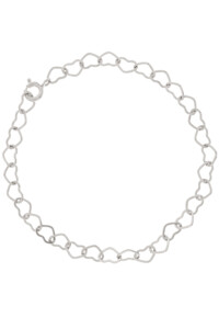 HEART CHAIN Armband Sterling Silber