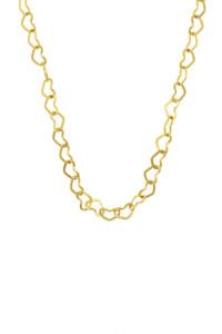 HEART CHAIN Halskette gelb vergoldet