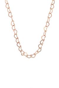 HEART CHAIN Halskette rosé vergoldet