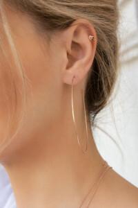 HEART CHARM Earcuff auch für ungestochene Ohren – wird einzeln verkauft