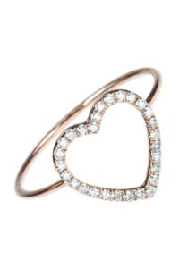 HEART Roségold Diamant Ring