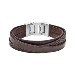 Herren Armband Vintage Casual aus braunem Leder