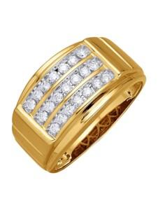 Herrenring Diemer Diamant Gelbgoldfarben