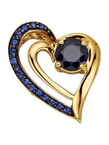 Herz-Anhänger Diemer Farbstein Blau