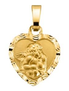 Herz-Anhänger Diemer Gold Gelbgoldfarben