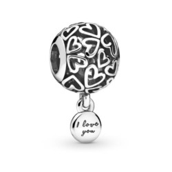 Herz Charm I love you aus Sterlingsilber