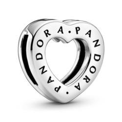 Herz Clip Logo aus Sterlingsilber