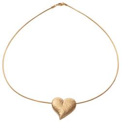 Herz-Collier 'Le Coeur', Version vergoldet, Collier, Schmuck