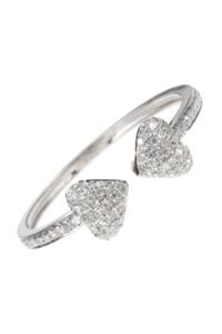 HERZ Diamant Ring Weißgold