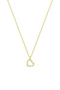 HERZ Halskette 14K Gelbgold