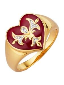 Herz-Ring Diemer Trend Rot