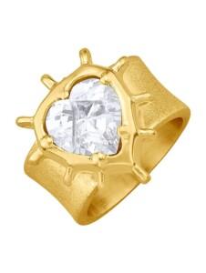 Herz-Ring mit Zirkonia Ursula Christ Gelbgoldfarben
