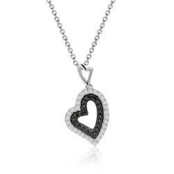 Herzförmiges Diamantcollier 0,122 ct gesamt
