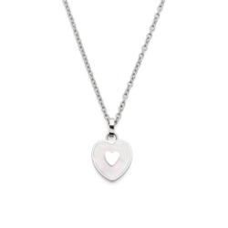 Herzkette Eviva für Damen aus Edelstahl, gravierbar