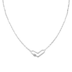 Herzkette für Damen aus Edelstahl mit Kristallen